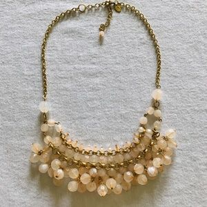 Anthropologie Pink and Gold Statement Neckless